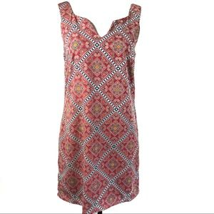 Pink Owl Midi Dress, Pink Diamond Print, Small
